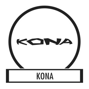 Bicycle sticker, Bicycle decal - Kona