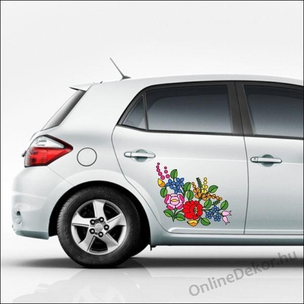 5aec2ea354 Autódekoráció, autómatrica - 06.Virágok - Kalocsai mintás Autódekoráció 10