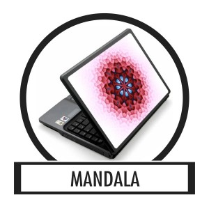 Laptop sticker, Notebook sticker - Mandala