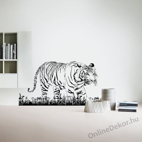 wall sticker wall tattoo wall decoration wall decal animal tiger 1946. Black Bedroom Furniture Sets. Home Design Ideas