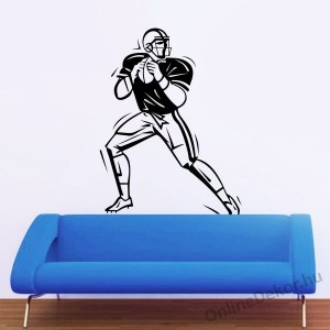 Wall sticker, Wall tattoo, Wall decoration, Wall decal - Sport - American football 1956