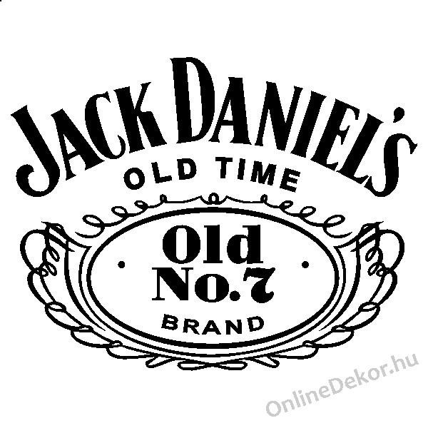 wall sticker wall tattoo wall decoration wall decal brand name jack daniels 1964. Black Bedroom Furniture Sets. Home Design Ideas