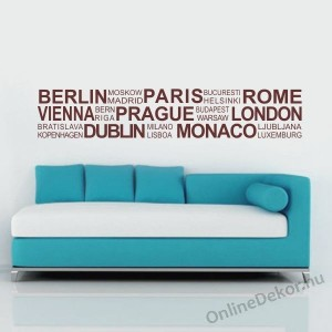 Wall sticker, Wall tattoo, Wall decoration, Wall decal - Name, Texts - City names 2007