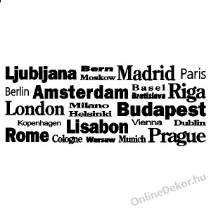 Wall sticker, Wall tattoo, Wall decoration, Wall decal - Name, Texts - City names 2009