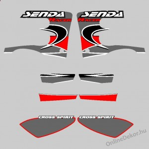 Motor sticker, Motor decal - 01.Motor sticker - Derbi - Senda Racer