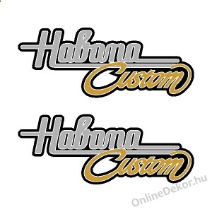 Motor sticker, Motor decal - 02.Scooter sticker - Aprilia - Habana Custom