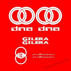 Motor sticker, Motor decal - 01.Motor sticker - Gilera - DNA