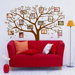 Wall sticker, Wall tattoo, Wall decoration, Wall decal - Family tree, Photo position - Family tree 2101