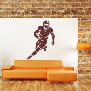 Wall sticker, Wall tattoo, Wall decoration, Wall decal - Sport - American Football Player 2105