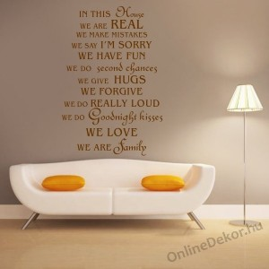 Wall sticker, Wall tattoo, Wall decoration, Wall decal - Name, Texts - WE ARE FAMILY 2106