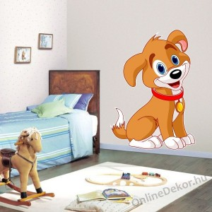 Wall sticker, Wall tattoo, Wall decoration, Wall decal - Children's room - 04.Printed wall sticker (No colour) - Dog 2139