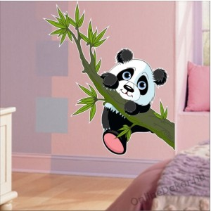 Wall sticker, Wall tattoo, Wall decoration, Wall decal - Children's room - 04.Printed wall sticker (No colour) - Panda bear 2140