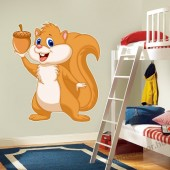 Wall sticker, Wall tattoo, Wall decoration, Wall decal - Children's room - 04.Printed wall sticker II. (No colour) - Squirrel 21