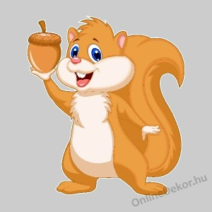 Wall sticker, Wall tattoo, Wall decoration, Wall decal - Children's room - 04.Printed wall sticker (No colour) - Squirrel 2141