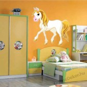Wall sticker, Wall tattoo, Wall decoration, Wall decal - Children's room - 04.Printed wall sticker II. (No colour) - Horse 2142