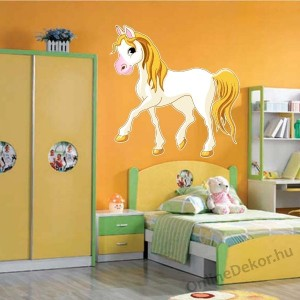 Wall sticker, Wall tattoo, Wall decoration, Wall decal - Children's room - 04.Printed wall sticker (No colour) - Horse 2142