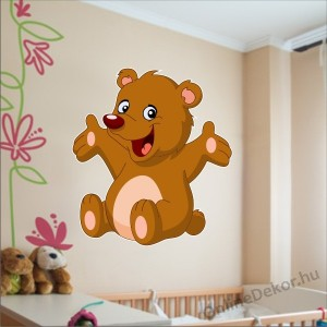 Wall sticker, Wall tattoo, Wall decoration, Wall decal - Children's room - 04.Printed wall sticker (No colour) - Bear 2143