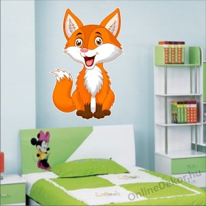 Wall sticker, Wall tattoo, Wall decoration, Wall decal - Children's room - 04.Printed wall sticker (No colour) - Fox 2145
