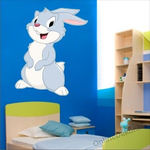 Wall sticker, Wall tattoo, Wall decoration, Wall decal - Children's room - 04.Printed wall sticker (No colour) - Rabbit 2146