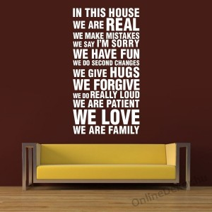 Wall sticker, Wall tattoo, Wall decoration, Wall decal - Name, Texts - WE ARE FAMILY 2148