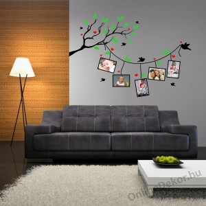 Wall sticker, Wall tattoo, Wall decoration, Wall decal - Family tree, Photo position - Family photos 2150