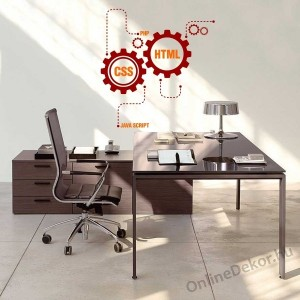 Wall sticker, Wall tattoo, Wall decoration, Wall decal - Office - Office 2152