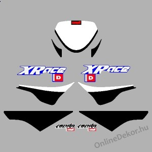 Motor sticker, Motor decal - 01.Motor sticker - Derbi - Senda Xrace 50