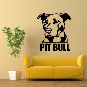 Wall sticker, Wall tattoo, Wall decoration, Wall decal - Kutyák - Pit Bull 2192