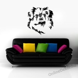 Wall sticker, Wall tattoo, Wall decoration, Wall decal - Kutyák - Pekingese 2193