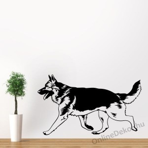 Wall sticker, Wall tattoo, Wall decoration, Wall decal - Kutyák - German shepherd 2194