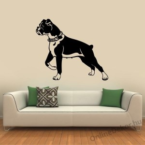 Wall sticker, Wall tattoo, Wall decoration, Wall decal - Kutyák - Boxer 2195