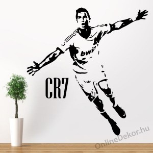 Wall sticker, Wall tattoo, Wall decoration, Wall decal - Football Team Logo - Cristiano Ronaldo 2199