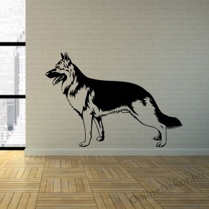 Wall sticker, Wall tattoo, Wall decoration, Wall decal - Kutyák - German shepherd 2205