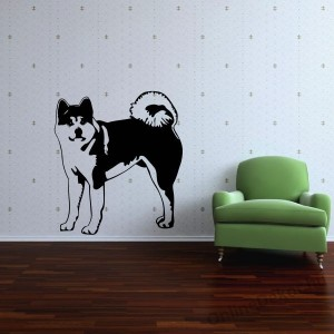 Wall sticker, Wall tattoo, Wall decoration, Wall decal - Kutyák - Akita Inu 2207