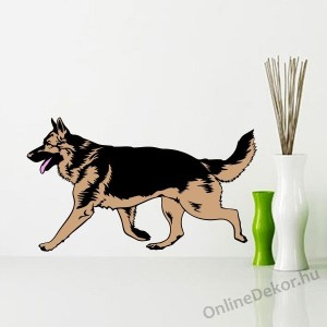 Wall sticker, Wall tattoo, Wall decoration, Wall decal - Kutyák - German shepherd 2210