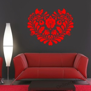 Wall sticker, Wall tattoo, Wall decoration, Wall decal - Folk - Folk pattern 2233