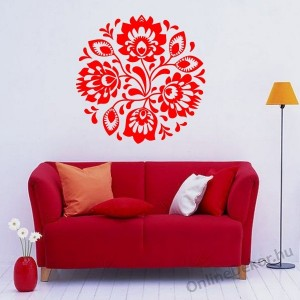 Wall sticker, Wall tattoo, Wall decoration, Wall decal - Folk - Folk pattern 2234