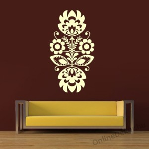 Wall sticker, Wall tattoo, Wall decoration, Wall decal - Folk - Folk pattern 2237