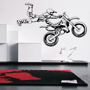 Wall sticker, Wall tattoo, Wall decoration, Wall decal - Motorcycle - Motorcycle 2248