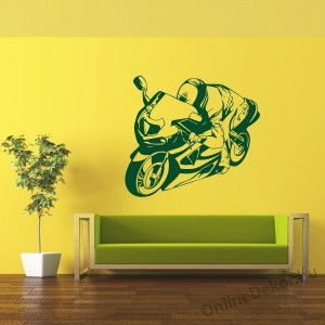 Wall sticker, Wall tattoo, Wall decoration, Wall decal - Motorcycle - Motorcycle 2252