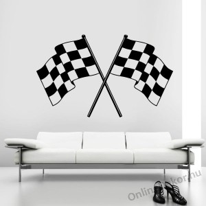 Wall sticker, Wall tattoo, Wall decoration, Wall decal - Vehicle - Flag 2255