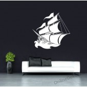 Wall sticker, Wall tattoo, Wall decoration, Wall decal - Vehicle - Ship 2258