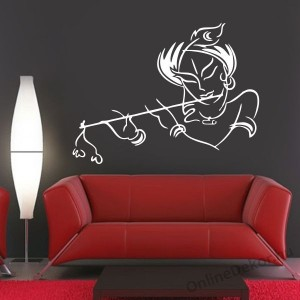 Wall sticker, Wall tattoo, Wall decoration, Wall decal - Music - Woman with flute 2264
