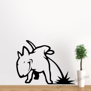 Wall sticker, Wall tattoo, Wall decoration, Wall decal - Animal - Bullterrier 2291
