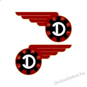 Motor sticker, Motor decal - 01.Motor sticker - Csepel - D-Csepel 125 (1949-1954)