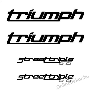 Motor sticker, Motor decal - 01.Motor sticker - Triumph - Street Triple 675 (2012-2014)