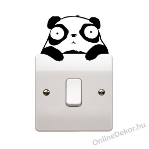 Wall sticker, Wall tattoo, Wall decoration, Wall decal - Animal - Pandas light switch stricker 2314