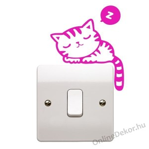 Wall sticker, Wall tattoo, Wall decoration, Wall decal - Animal - Cat light switch stricker 2315