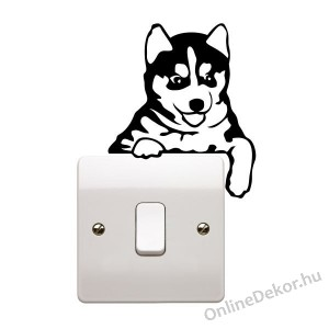 Wall sticker, Wall tattoo, Wall decoration, Wall decal - Animal - Husky switch stricker 2318