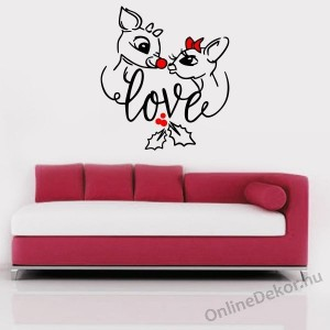 Wall sticker, Wall tattoo, Wall decoration, Wall decal - Animal - Deer love 2331
